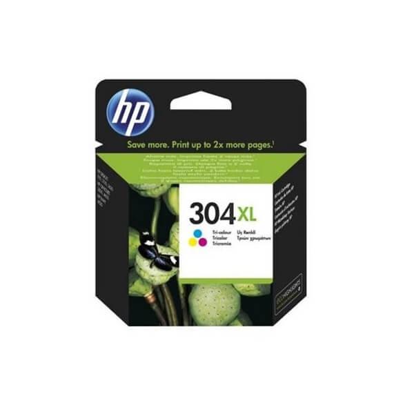 Consommable HP 304XL cartouche d'encre a rendement élevé tricolore