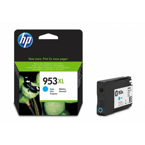 Consommable HP 953XL cartouche d'encre Cyan a rendement élevé  0.5 ml pour Officejet Pro