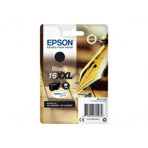 Consommable EPSON CARTOUCHE DE COULEUR NOIR jet d'encre 16XXL 1000 PAGES tres HAUTE CAPACI