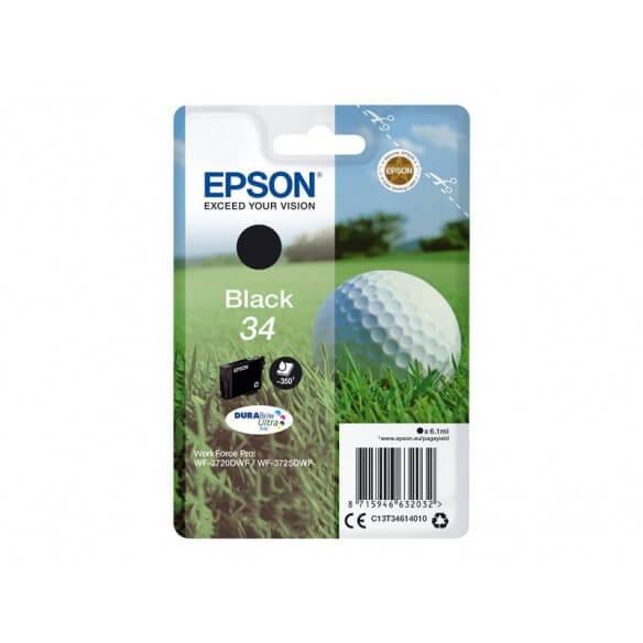 Consommable Epson cartouche jet d'encre noir 350 pages capacité standard