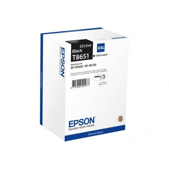 Consommable Epson T8651 cartouche d'encre Noir 10000 pages pour WF-M5190