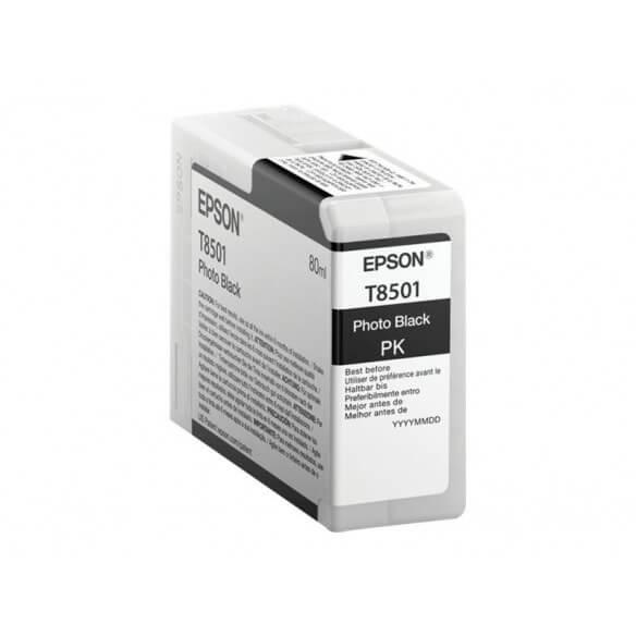 Consommable Epson T8501 cartouche d'encre Photo noire pour SureColor P800, SC-P800