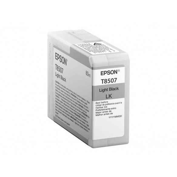 Consommable Epson T8507 cartouche d'encre Noir clair pour SureColor P800, SC-P800