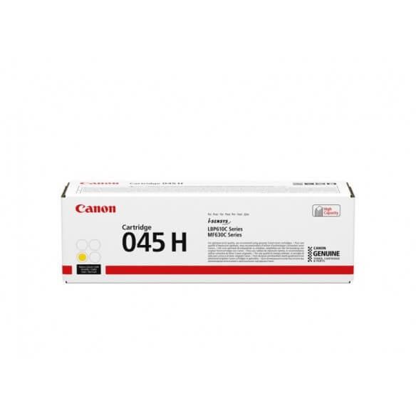 Consommable Canon 045H Cartouche de toner Jaune haute capacit�...