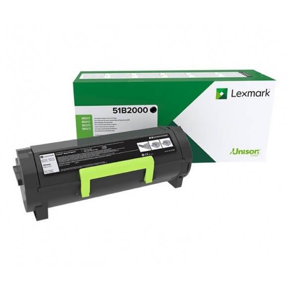 Consommable Lexmarck Cartouche de toner Noir pour MS317DN, MS417