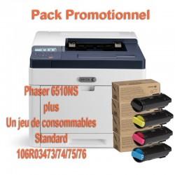 Offre : Xerox 6510V_NS Imprimante laser couleur + 1 jeu complet de 4 toners (1 noir 2500p et 3 couleurs 1000p)