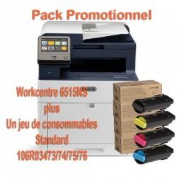 Offre : Xerox 6515V_NS Multifonction laser couleur + 1 jeu de complet de 4 toners (1 noir 2500p et 3 toners 1000p)