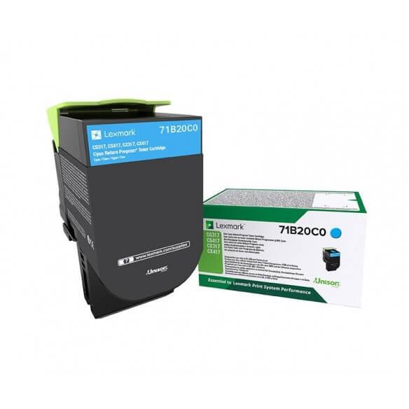 Consommable Lexmark X317 cartouche de toner Cyan 2300 page pour CS/CX317/417/517