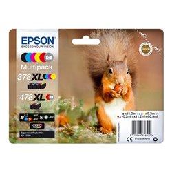 Epson 478XL Multipack 6 couleurs (gris,noir,jaune,cyan,magenta,rouge) 60.5 ml pour Xp-15000