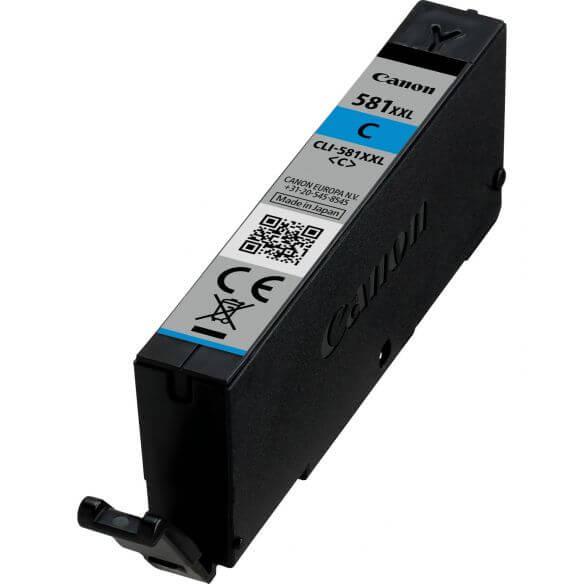 Consommable Canon cartouche d'encre cyan pigmentée à haut rendement CLI-581XXL