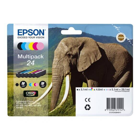 Consommable Epson 24 Multipack - pack de 6 - noir, jaune, cyan, magenta, magenta clair, cy