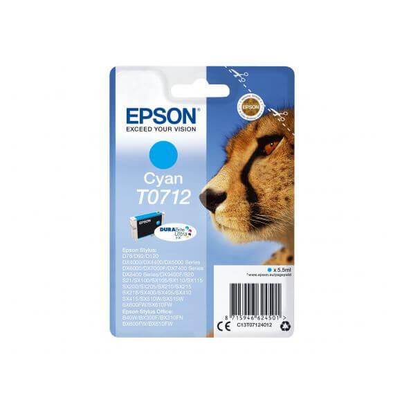 Consommable Epson T0712 - cyan - originale - cartouche d'encre