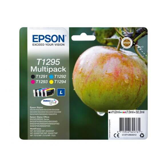 Consommable Epson T1295 Multipack - pack de 4 - taille L - noir, jaune, cyan, magenta - or