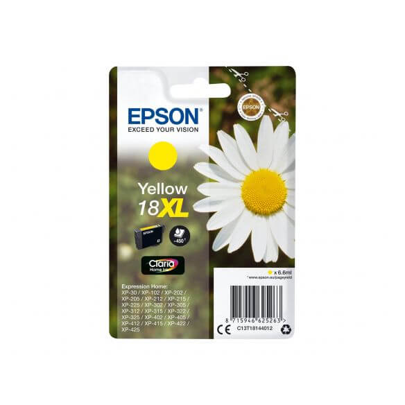 Consommable Epson 18XL - XL - jaune - originale - cartouche d'encre