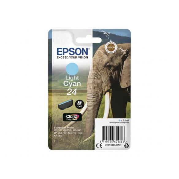 Consommable Epson 24 - cyan clair - originale - cartouche d'encre