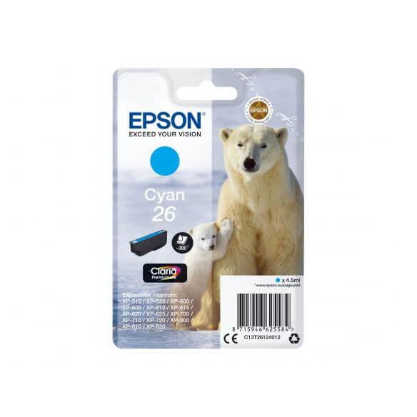 Consommable Epson 26 - cyan - originale - cartouche d'encre