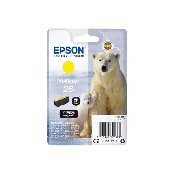 Consommable Epson 26 - jaune - originale - cartouche d'encre
