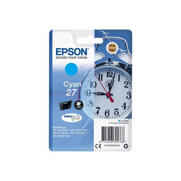 Consommable Epson 27 - cyan - originale - cartouche d'encre