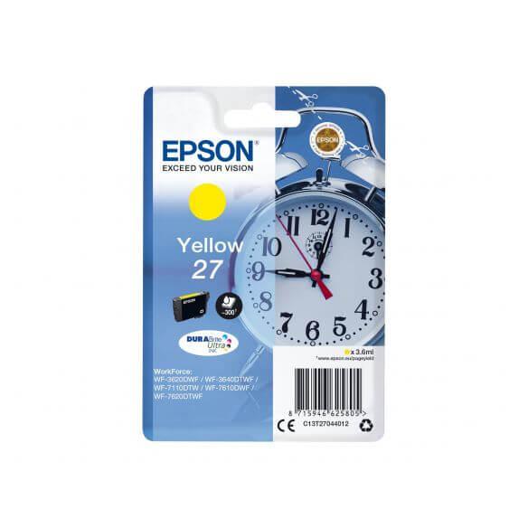 Consommable Epson 27 - jaune - originale - cartouche d'encre