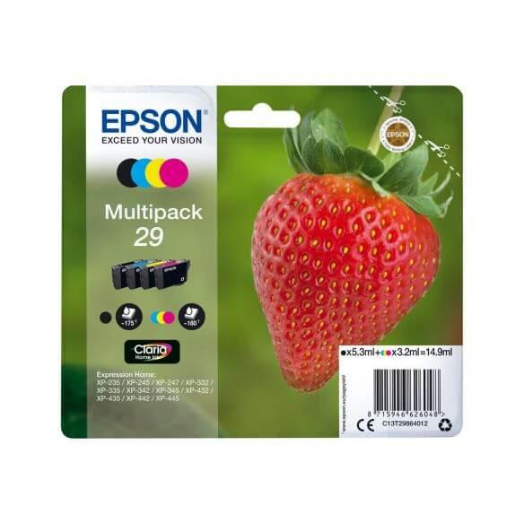 Cartouches d'encre Epson 29 Multipack - pack de 4 - noir, jaune, cyan, magenta (photo)