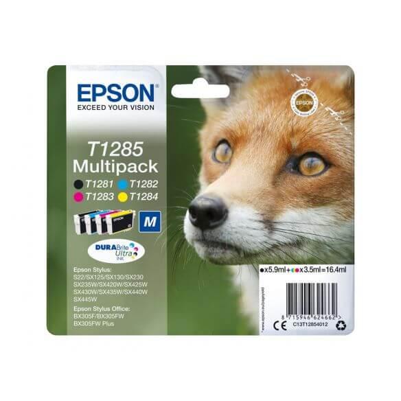 Cartouches d'encre Epson T1285 Multipack - pack de 4 - noir, jaune, cyan, magenta (photo)