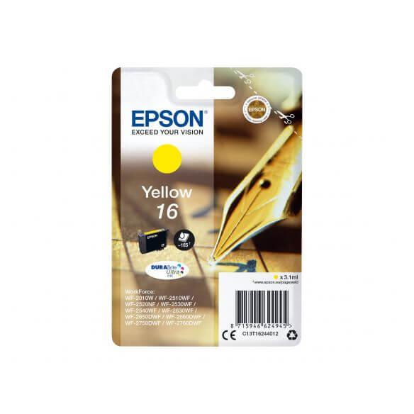 cartouche d'encre Epson 16 - jaune - 165 pages (photo)