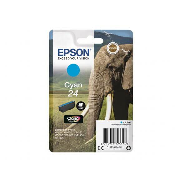 cartouche d'encre cyan Epson 24 - 360 pages (photo)