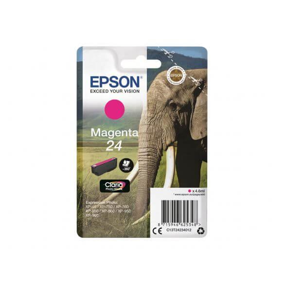 Cartouche d'encre magenta Epson 24 (photo)