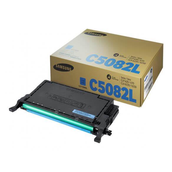 Cartouche de toner cyan Samsung CLT-C5082L - à rendement élevé 4000 pages (photo)
