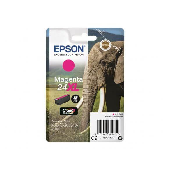 Consommable Epson 24XL - XL - magenta - originale - cartouche d'encre