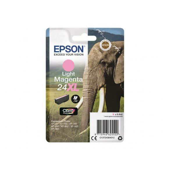 Consommable Epson 24XL - XL - magenta clair - originale - cartouche d'encre