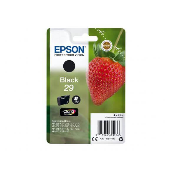 Consommable Epson 29 - noir - originale - cartouche d'encre