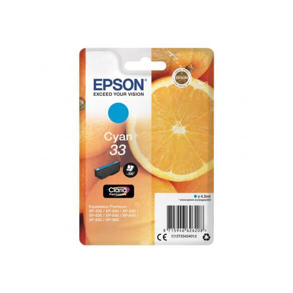 Consommable Epson 33 - cyan - originale - cartouche d'encre