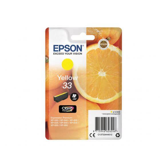 Consommable Epson 33 - jaune - originale - cartouche d'encre