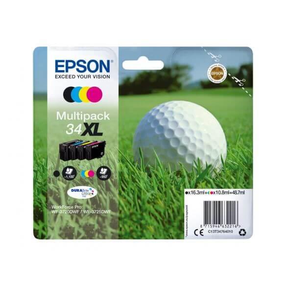 Consommable Epson 34XL - pack de 4 - XL - noir, jaune, cyan, magenta - originale - cartouc