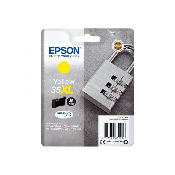 Consommable Epson 35XL - XL - jaune - originale - cartouche d'encre
