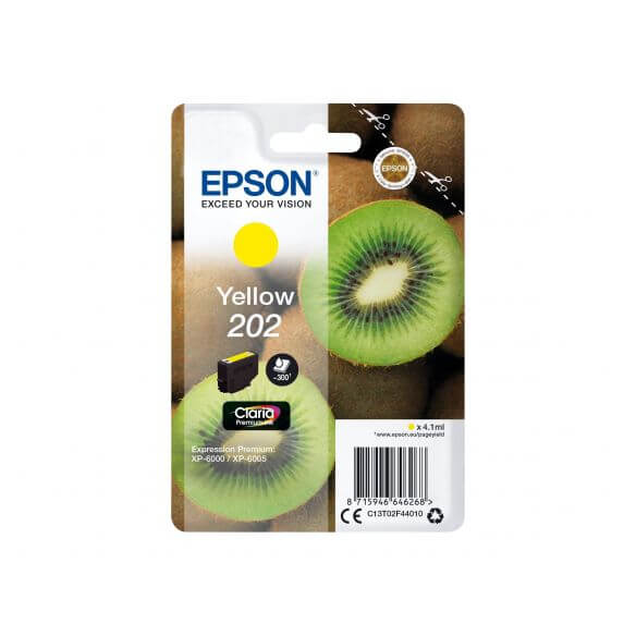 Consommable Epson 202 - jaune - originale - cartouche d'encre