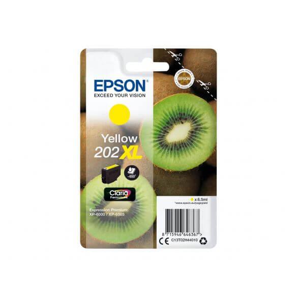 Consommable Epson 202XL - XL - jaune - originale - cartouche d'encre