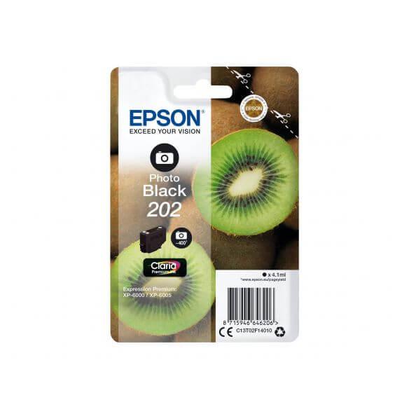 Consommable Epson 202 - photo noire - originale - cartouche d'encre