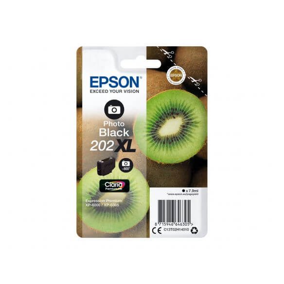 Consommable Epson 202XL - XL - photo noire - originale - cartouche d'encre