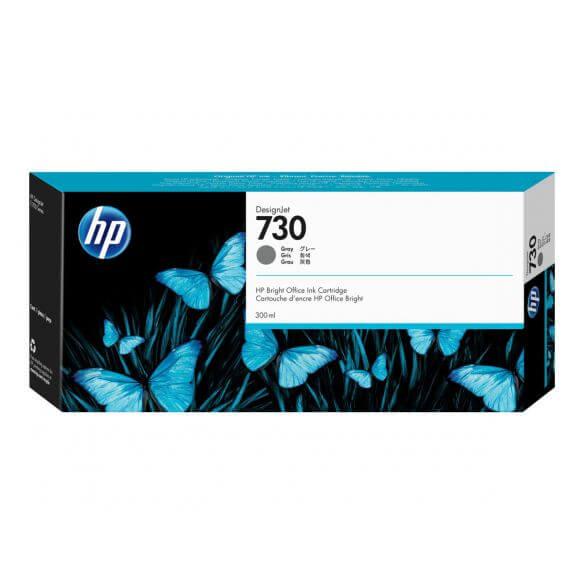 Cartouche d'encre gris HP 730 - haute capacité - 300ml (photo)