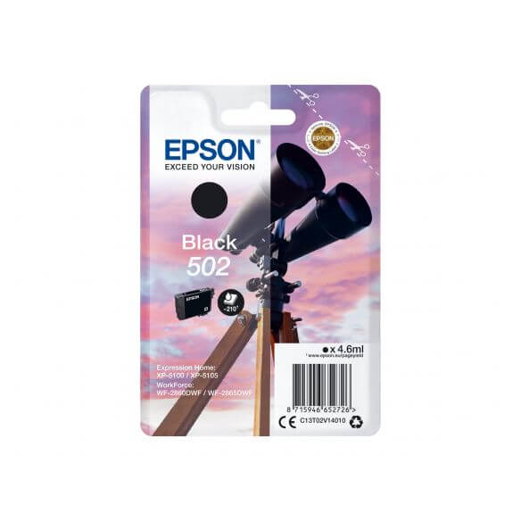 Consommable Epson 502 - noir - originale - cartouche d'encre
