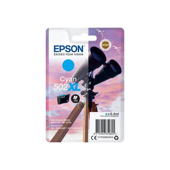 Consommable Epson 502XL - haute capacité - cyan - originale - cartouche d'encre
