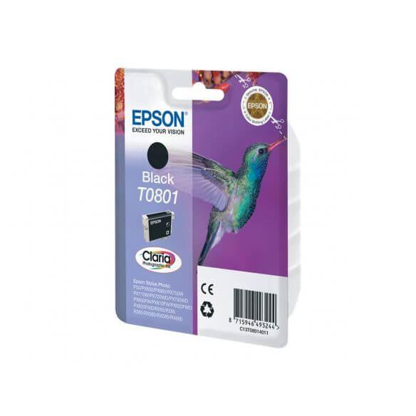 Consommable Epson T0801 - noir - originale - cartouche d'encre