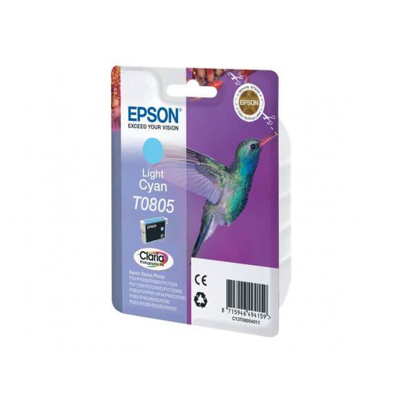 Consommable Epson T0805 - cyan clair - originale - cartouche d'encre