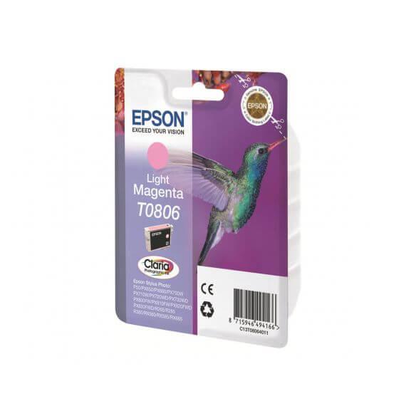 Consommable Epson T0806 - magenta clair - originale - cartouche d'encre