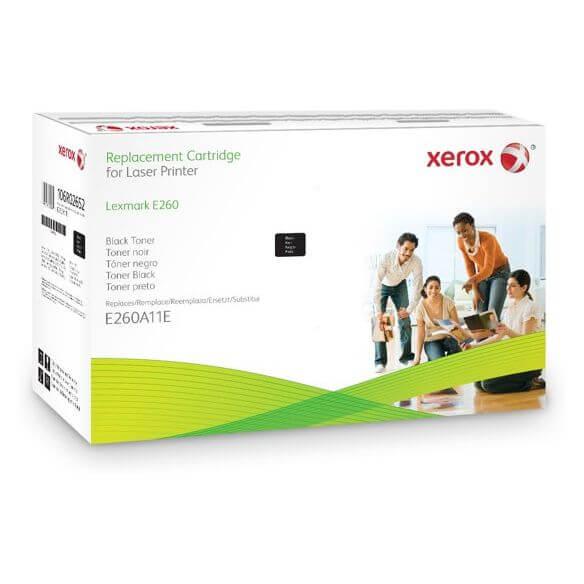 Toner noir compatible Xerox pour Lexmark E260A21E 3500 pages (photo)