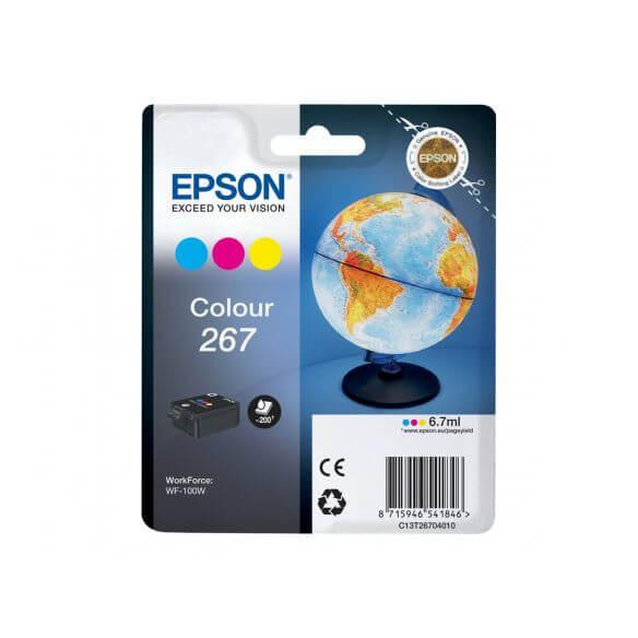 Consommable Epson 267 - jaune, cyan, magenta - originale - cartouche d'encre