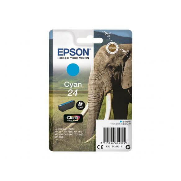 Consommable Epson 24 - cyan - originale - cartouche d'encre