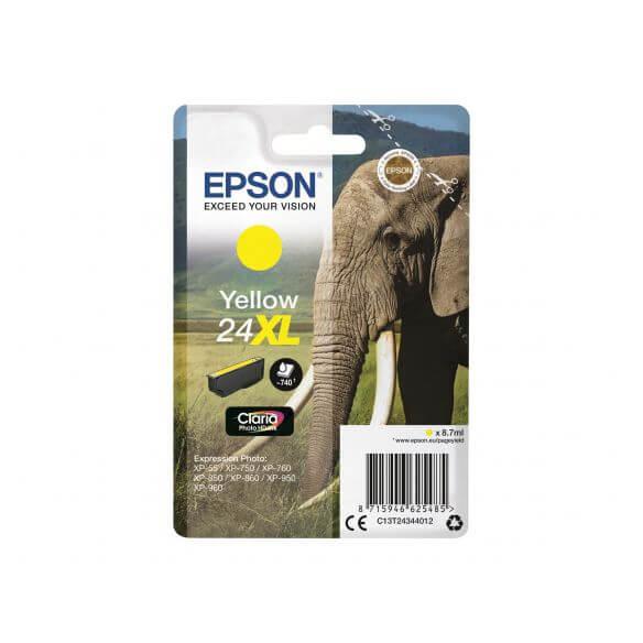 Consommable Epson 24XL - XL - jaune - originale - cartouche d'encre